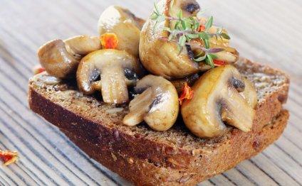 Жарка замороженных грибов без