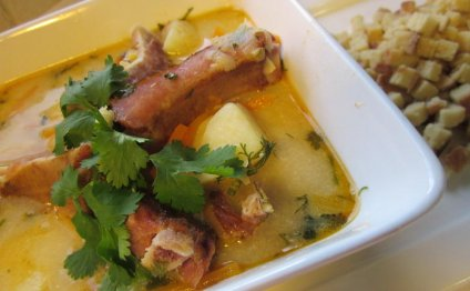 Гороховый суп с копчеными