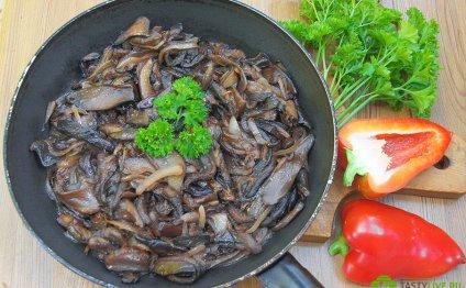 Печеночный гриб жаренный с